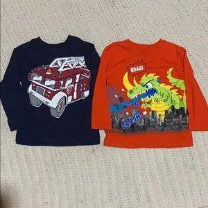 Boys long sleeve graphic shirts